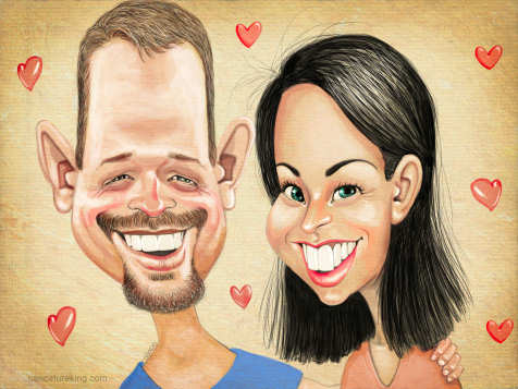 lovers caricature picture
