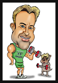 workout gym caricature