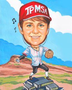 baseball caricature