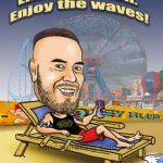 beach caricature