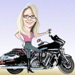 motorbike-caricature