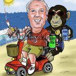 retirement caricature idea