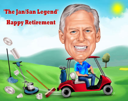retiring to play golf