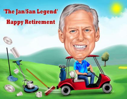 retiring to play golf