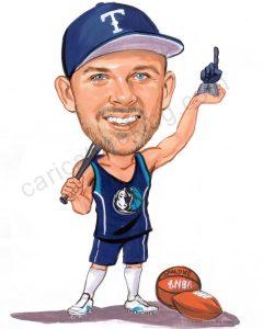 sporting caricature